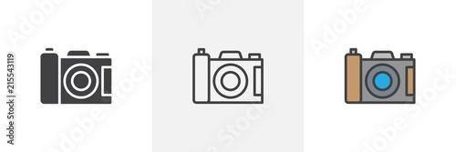 Photo camera icon Fotobehang