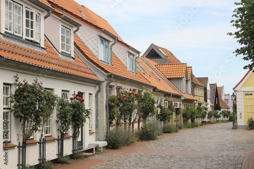 schöne Fischer Häuser in Holm, Schleswig Canvas Print