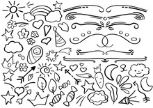 Black And White Doodle Borders...