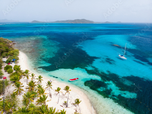 Top view of Tobago cays Poster Mural XXL