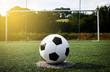 canvas print picture - Fußball Elfmeter Sonne Himmel