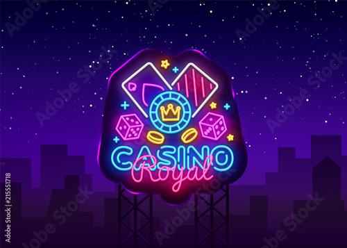 фотография  Casino Royal Neon Logo Vector