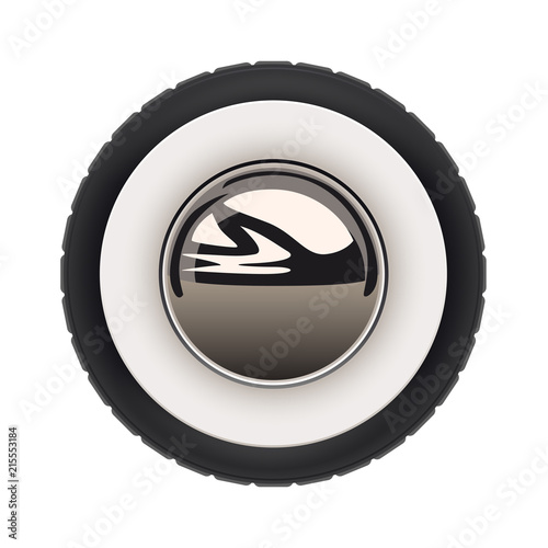 retro car wheel Fototapet