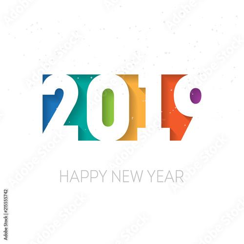 Fotografía  Happy new year 2019, vector background