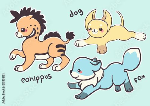 Animalitos kawaii Poster