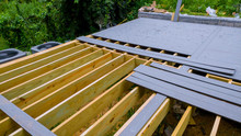 A New Wooden, Timber Deck Bein...