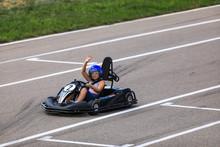 Portrait Of A Go-kart Driver