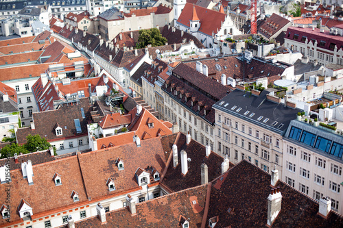 Top View of old town from St Wallpaper Mural