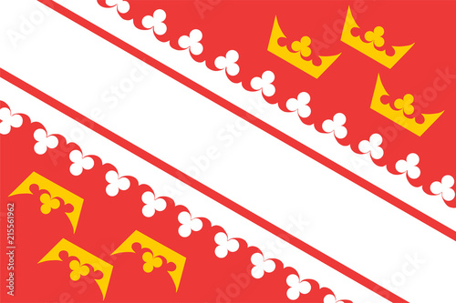 Vector flag of Alsace, region in France Canvas Print