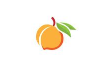Peach Orange Logo Design Illus...
