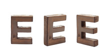 Single Sawn Wooden Letter Isol...