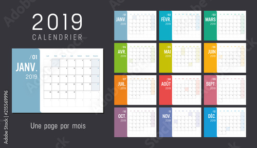 Calendrier Planning 2019.Calendrier Planning 2019 Une Page Par Mois Buy This