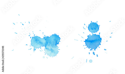 Obraz Watercolor drop stain isolated - fototapety do salonu