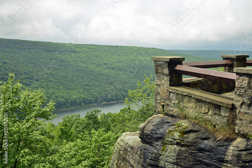 View from the overlook on a cloudy day Canvas Print
