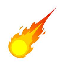 Fireball Illustration. Vector.