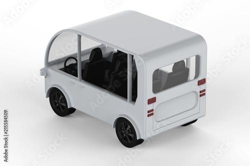 Fotografie, Obraz  white mini van or shuttle bus