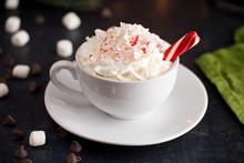 Peppermint Latte On A Table Se...