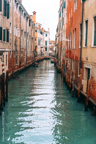 Foto op Aluminium Venice Colourful and relaxing canal in Venice