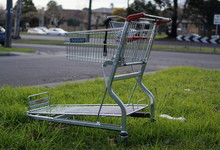 Abandoned Supermarket Trolley On Street