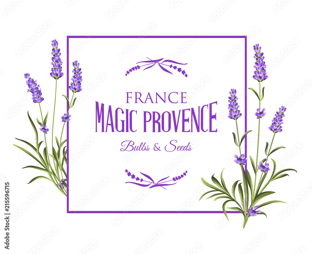 Spring Invitation Card With Lavender Flowers Marriage