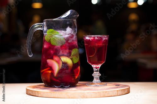 Fotografie, Obraz Homemade red wine sangria with orange