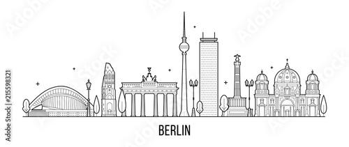 Berlin skyline Germanym vector city vector Wallpaper Mural