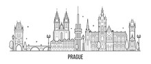 Prague Skyline Czech Republic City Building Vector