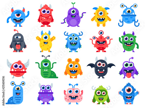 Fotografie, Obraz Cute cartoon monsters