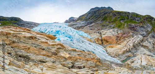 Poster Glaciers The blue Svartisen Glacier, north Norway
