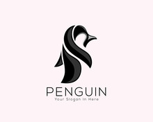 Abstract Fun Penguin Animal Ar...