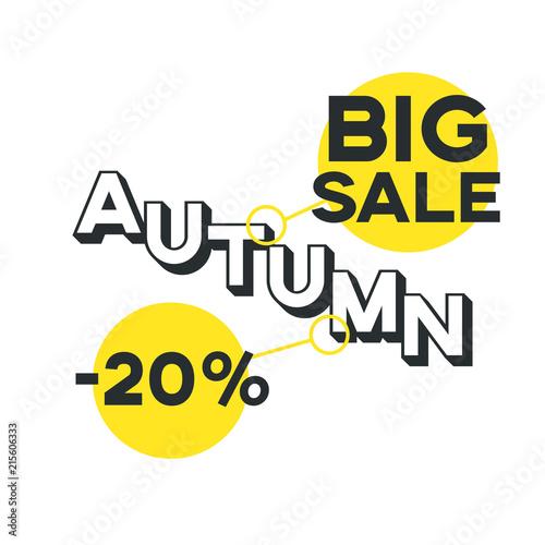 20 percent discount, big autumn sale © yESvideo.com.ua
