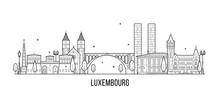 Luxembourg City Skyline City B...