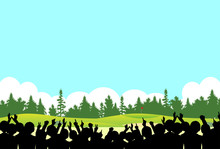 観客 ゴルフ場 風景