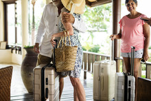 Guests Arriving To A Resort