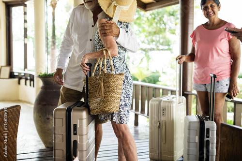 Fototapeta Guests arriving to a resort