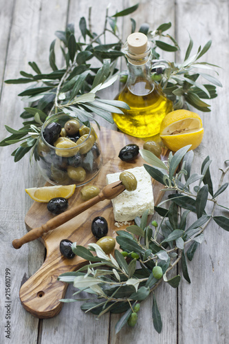 Olives an olive oil Slika na platnu