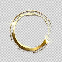 Sparkling Golden Ring Frame Ma...