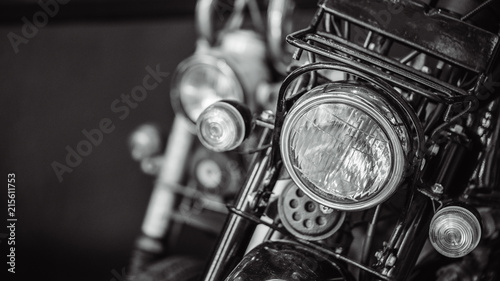 Poster Vintage voitures Front Headlight Motorcycle