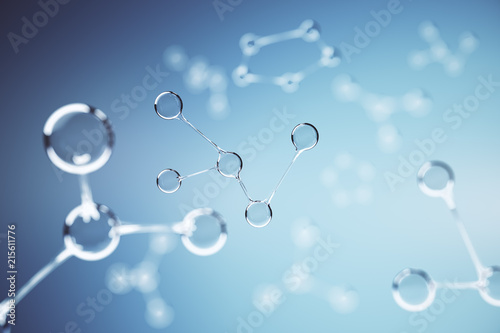 Creative molecule background