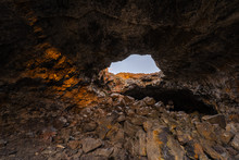 Indian Tunnel In Craters Of The Moon National Monument & Preserve, Idaho, USA