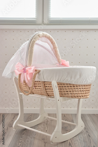 Photo Lullaby baby basket bed