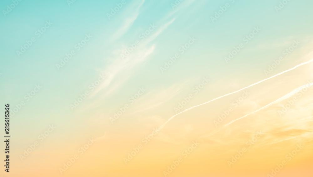 Nature pastel sky background