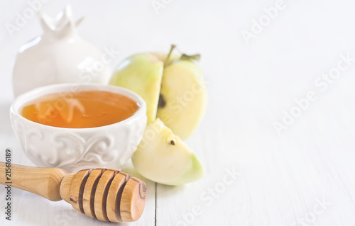 Cuadros en Lienzo Apple and honey background