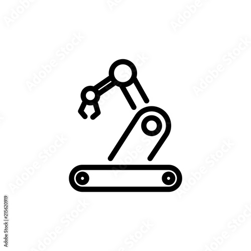 Robotics Icon Simple Flat Style Outline Illustration Buy This