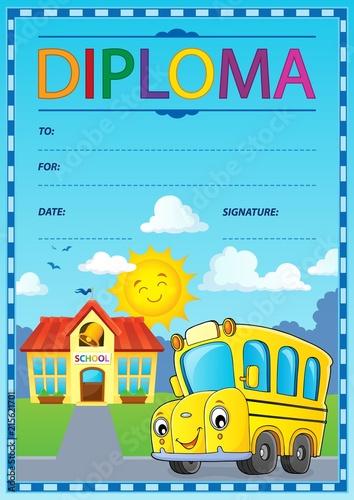 Foto op Plexiglas Voor kinderen Diploma design image 1