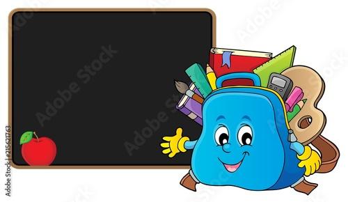 Foto op Plexiglas Voor kinderen Happy schoolbag topic image 2