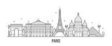 Fototapeta Fototapety Paryż - Paris skyline France city buildings vector