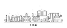Athens Skyline Greecevector Ci...