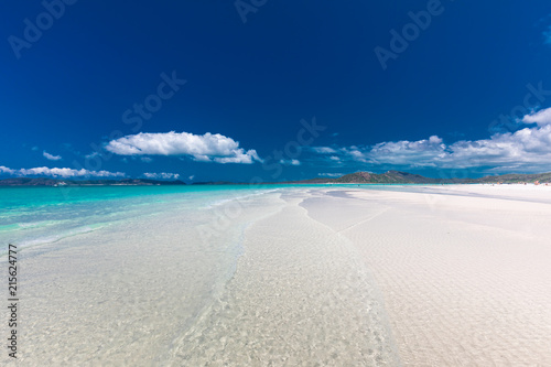 The amazing Whitehaven Beach in the Whitsunday Islands, Queensland, Australia Wallpaper Mural