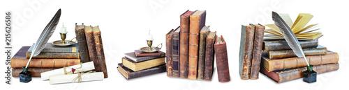 Fotografie, Obraz  Set of old books